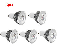 5pcs 3W E14/GU10/GU5.3/E27 LED Spotlight 3 SMD 300lm Warm White Cold White Decorative AC85-265V