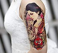 большие руки цветы поддельные передачи Временные татуировки тела сексуальные наклейки водонепроницаемая