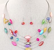 cheap -Women's Crystal Resin Shell Alloy Bohemian Multi Layer Fashion Party Daily Casual Earrings Necklaces Costume Jewelry