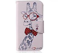 Giraffe Pattern PU Leather Material Phone Case for Samsung Galaxy J1/J1ACE/J2/J3/J5/J7/G360/G530