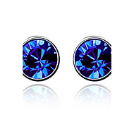 cheap -Women's Crystal Stud Earrings - Green Blue Pink Earrings For Wedding Party Daily