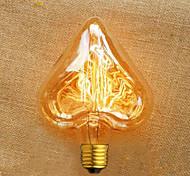 Недорогие -сердечная форма прямой проволоки 40 w e27 220 v ampoule edison высокое качество