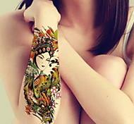 BR-Зеленый-Тату со стразами / Тату с цветами / Тату с тотемом / Прочее-Временные тату- дляРебенок / Для детей / Женский / Girl / Мужской