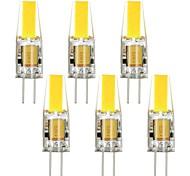 Недорогие -G4 LED лампы типа Корн T 1 COB 250 lm Тёплый белый Холодный белый Декоративная DC 12 AC 12 V 6 шт.