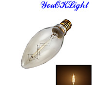 E14 LED Globe Bulbs B 1 COB 250 lm Warm White 3000 K Decorative AC 220-240 V
