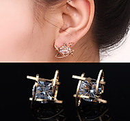 cheap -Women's Stud Earrings Costume Jewelry Zircon Cubic Zirconia Rhinestone Alloy Square Geometric Jewelry For Wedding Party Daily Casual