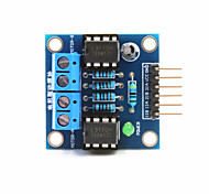 Недорогие -2-полосная модуль постоянного тока привода двигателя для Arduino + Raspberry Pi - синий