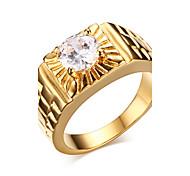 Недорогие -Муж. Массивные кольца Мода Циркон Позолота Бижутерия Новогодние подарки Свадьба Для вечеринок Повседневные Спорт