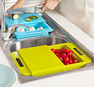 cheap -Kitchen Sink Cutting Boards Wash the Dishes to Wash Cut With The Drain Basket Chopping Block