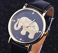 cheap -Resuli New Arrival Elephant Women Printing Pattern Weaved Leather Quartz Dial Watches Cool Watches Unique Watches