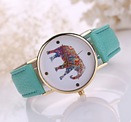 Women's Elephant Case Leather Band Analog Quartz Fashion Watch Jewelry Cool Watches Unique Watches