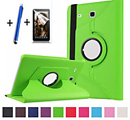 cheap -Case For Samsung Galaxy with Stand Flip 360° Rotation Full Body Cases Solid Color Hard PU Leather for Tab E 9.6