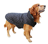 cheap -Dog Coat Vest Winter Clothing Dog Clothes Plaid/Check Beige Brown Red Green Cotton Costume For Pets Men's Women's Reversible Keep Warm