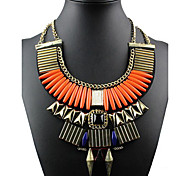 Women's Statement Necklaces Alloy Fashion Statement Jewelry Orange Royal Blue Jewelry Special Occasion Birthday Gift
