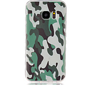 cheap -Case For Samsung Galaxy Samsung Galaxy Case Pattern Back Cover Camouflage Color TPU for S7 S6 edge S6 S5 Mini S5 S4 Mini S4 S3 Mini S3 S2