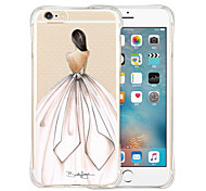 cheap -Case For Apple iPhone 6 iPhone 6 Plus Shockproof Transparent Pattern Back Cover Sexy Lady Soft Silicone for iPhone 6s Plus iPhone 6s
