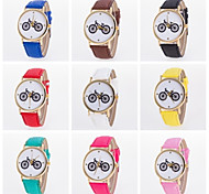 Low prices Colors W omens PU Leather Alloy Case Business Bicycle Printing Students Fancy Watch Cool Watches Unique Watches