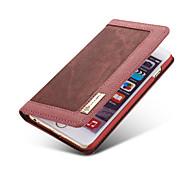Недорогие -Кейс для Назначение Apple iPhone 8 iPhone 8 Plus Кейс для iPhone 5 Бумажник для карт Кошелек со стендом Флип Чехол Сплошной цвет Мягкий