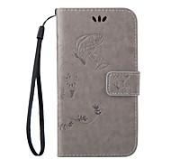 Недорогие -Для Кейс для HTC Кошелек / Бумажник для карт / со стендом / Флип Кейс для Чехол Кейс для Бабочка Твердый Искусственная кожа HTC