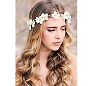 Bridal flower wreath woodland halo wedding flower crown bridal head piece rustic hair band flower headband