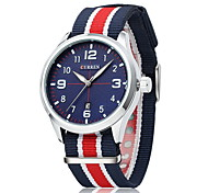 CURREN® Men's Fashion Casual Watch Japanese Quartz Colorful Nylon Fabric Strap Cool Watch Unique Watch