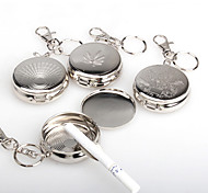 cheap -Stainless Steel Portable Round Cigarette Ashtray With Keychain Outdoor Ashtray