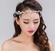 cheap -Women's Party Wedding Crystal Rhinestone Silver Plated Alloy Headband Forehead Head Chain