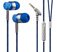 Kanen 3.5mm Hands-free Stereo In Ear Headphone Low Bass Headset With Mic for Smartphones