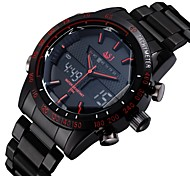 cheap -ASJ Men's Wrist Watch Japanese Alarm / Calendar / date / day / Chronograph Stainless Steel Band Luxury Black