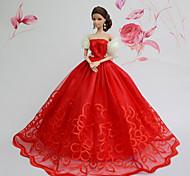 preiswerte -Party/Abends Kleider Für Barbie-Puppe Kleider Für Mädchen Puppe Spielzeug