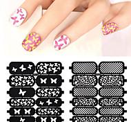 Недорогие -1pcs Трафарет для маникюра 3D-акриловые формы для ногтей Шаблон шаблона для ногтей Повседневные Цветы Мода Высокое качество