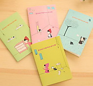 Red Hat Girl Pattern Creative Notebook(1 PCS Random Color)