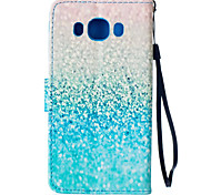 Green Sand Pattern PU Leather Material Phone Case for Samsung Galaxy J5/J510/G360/G530
