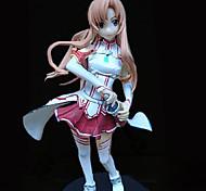 baratos -Figuras de Ação Anime Inspirado por Sword Art Online Asuna Yuuki PVC 18 CM modelo Brinquedos Boneca de Brinquedo