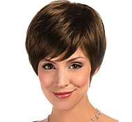 Sexy Short Straight Brown Synthetic Hair Wig For Women free shipping