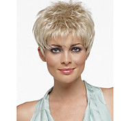 Pixie Cut Hairstyle Synthetic Wigs Short Hair Straight Blonde Wig with Bangs for Women Perruque Natural