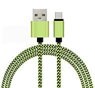 Недорогие -1m прочный плетеный микро USB зарядное устройство кабель шнур для Samsung HTC Android телефон