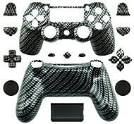 Replacement Controller Case for PS4 Controller (Black and White)