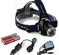 HP79 Headlamps Headlight LED 2000 lm 3 Mode Cree T6 with Batteries and Chargers Zoomable Adjustable Focus Impact Resistant Rechargeable