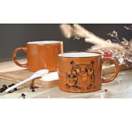 Недорогие -ручная роспись керамическая чашка большой кружки личности чашка кофе ретро ресторан чайная чашка 300 мл