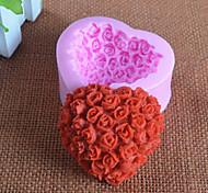 Love Rose Fondant Silicone Mold Chocolate Mold
