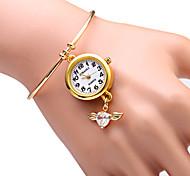 cheap -JUBAOLI Women's Quartz Bracelet Watch Fashion Watch Alloy Band Sparkle Heart shape Gold