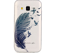 Para Funda Samsung Galaxy Carcasa Funda Transparente Cubierta Trasera Funda Plumas TPU para Samsung Galaxy Grand Prime Core Prime