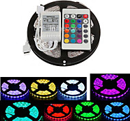 cheap -Z®ZDM 5M Waterproof 300X5050 SMD RGB LED Strip Light  IP65 with 24Key Remote Controller (DC12V)