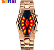 cheap -Men's Digital Digital Watch LED Alloy Band Creative Unique Creative Watch Dress Watch Black Blue Silver Gold Rose Gold