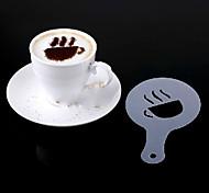 Недорогие -16pcs пластиковые фантазии приготовления кофе печати модель минималистский дизайн пыление накладка