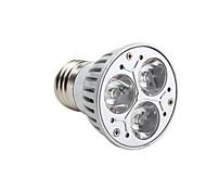 GU10 E26/E27 LED Spotlight MR16 3 High Power LED 220lm Warm White 3000K Dimmable AC 220-240V