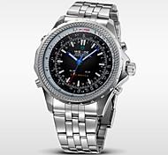WEIDE® Men's Full Steel Analog Digital Auto Date Alarm LED Display Sport Watch Cool Watch Unique Watch