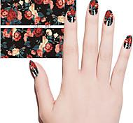 мода женщины прекрасные цветы переноса воды наклейки стикер искусства ногтя красоты маникюр поделки