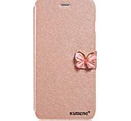 borboleta forma built-in slot para cartão de seda padrão de suporte de aleta caixa do telefone de couro para Samsung Galaxy A310 / A510 /